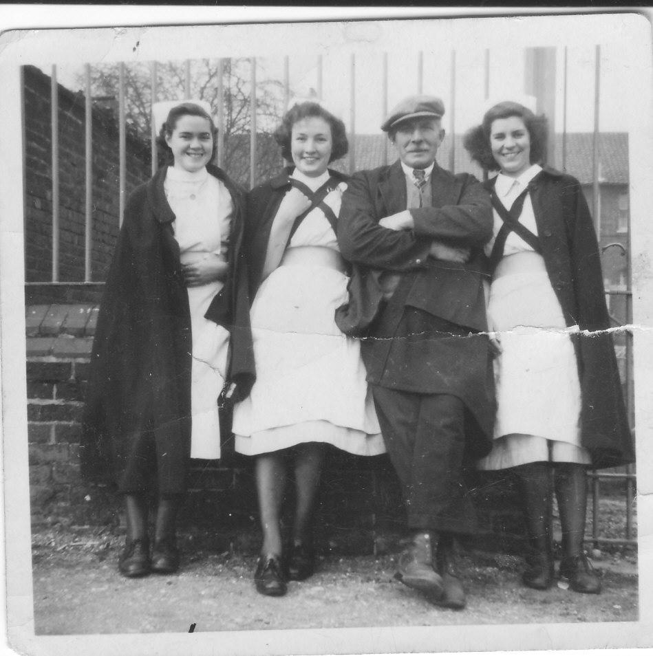 Gressenhall photos - Joan Secker, Joan Jordan, Mr Arthurton, Beryl Hamm (949px x 954px)