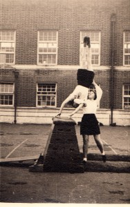Mary vaulting the horse in 1950