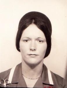 Nikki as a young nurse