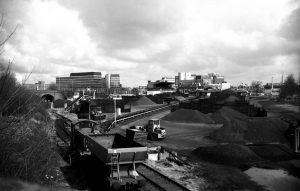 Queens Road Coal Depot 1986. Photo George Plunkett
